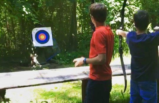 tir à l'arc flèches cible