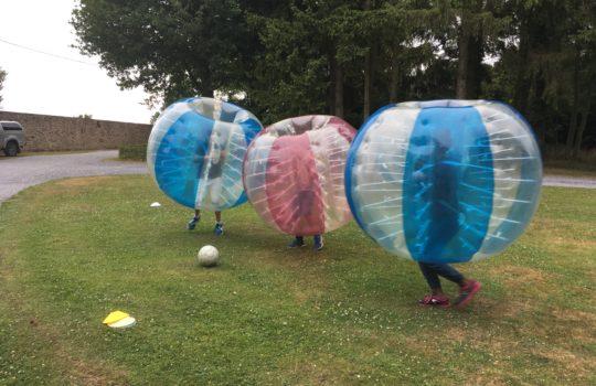 bubble foot équipes jeu