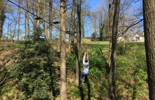 accrobranche tyrolienne câbles nature parc