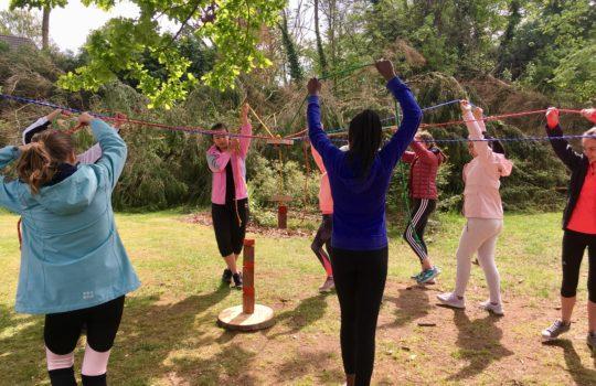 coordination coopération jeu nature parc aventure