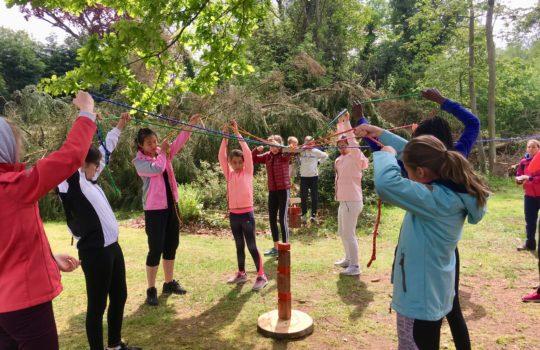 coopération jeu coordination tour parc aventure
