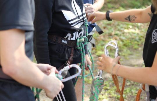 Mousquetons escalade cordes accrobranche