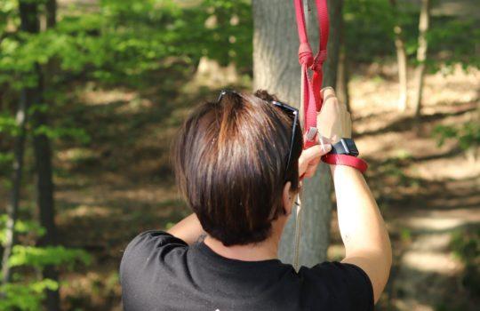 Aventure nature cordes tyrolienne