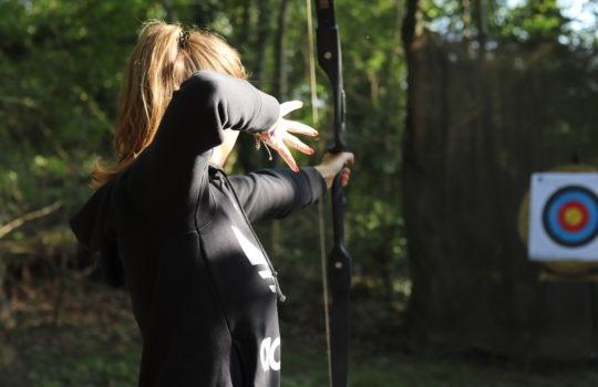 Flèche cible tir à l'arc viser parc