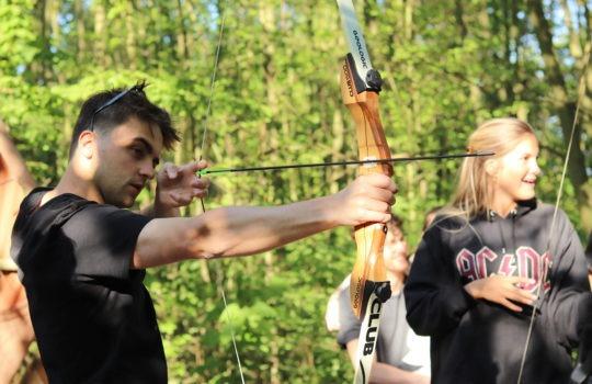 Flèche tir à l'arc nature parc aventure