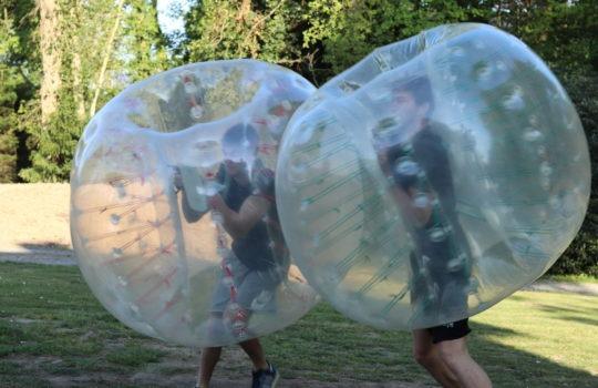 Air football jeu bulle parc